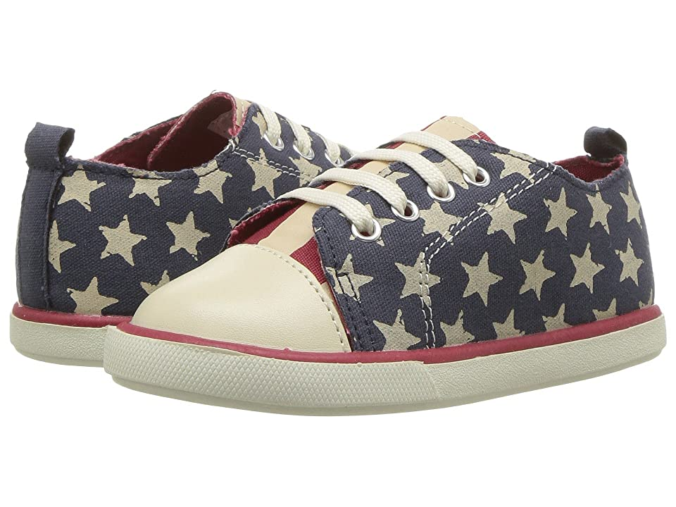 Baby Deer First Steps Americana Sneaker (Infant/Toddler) (Navy/Red) Boy