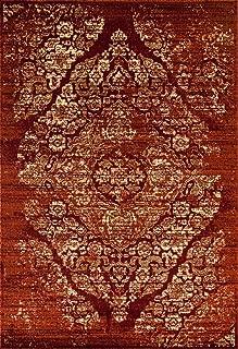 4620 Distressed Burgundy Rust 5x7 Area Rug Carpet Large New