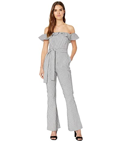 BCBGeneration Strapless Woven Long Jumpsuit (Black) Women
