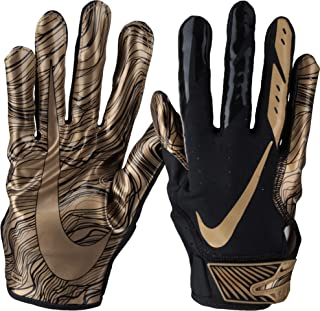 Nike Men's Vapor Jet 5.0 Football Gloves (Black/Metallic Gold, Large)