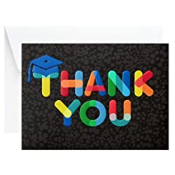Hallmark Graduation Thank You Cards, Colorful Thanks (20 Thank You Notes with Envelopes)