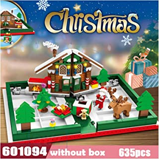 YOUPIN Santa Sleigh Reindeer Gift Christmas Cabin Assembled Building Blocks Compatible Bricks Toys For Boys and girls Girl...