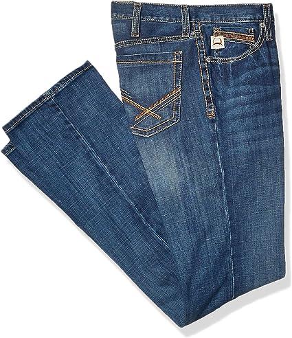 Cinch Men/'s IAN ArenaFlex Slim Bootcut Jeans Stretch Dark Stonewash MB68836001