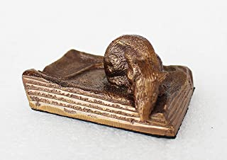 brass mouse paperweight