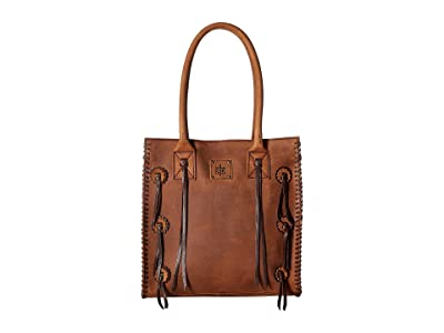 STS Ranchwear Large Chaps Satchel (Brown) Handbags