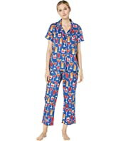Short Sleeve Cropped Pajama Set