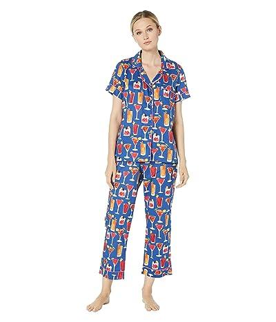 BedHead Pajamas Short Sleeve Cropped Pajama Set (I