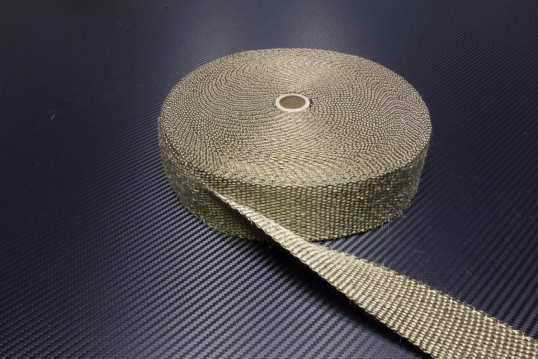 10 Kabelbinder *** Heat Wrap Auspuff Hitzeschutz Kr/ümmer Isolierband W/ärmeschutz 15m Keramik Hitzeschutzband 50mm schwarz 1200/°C