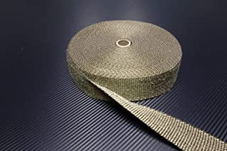 Schlauchland 10m Titan Hitzeschutzband 25mm 1400°C Auspuffband Thermoband Krümmerband Heat Wrap Basaltfaser Isolierband