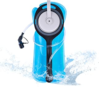 FLOVA Upgrade Hydration Bladder 2L Water Bladder BPA Free Military Class Leakproof Water Reservoir with Wide Opening Self-Locking Valve for Hiking Climbing Cycling Running and Any Outdoor Sports
