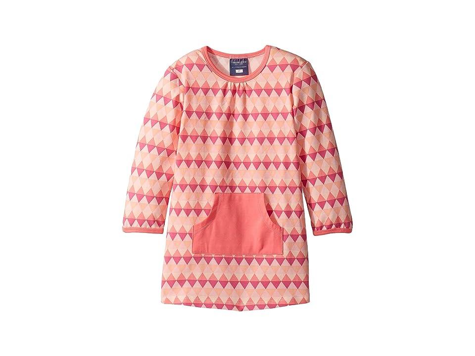 Toobydoo Geo Pink Pocket Dress (Infant/Toddler) (Multi Pink) Girl