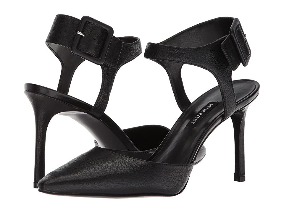 Nine West Elisabeti Heel (Black Leather) Women