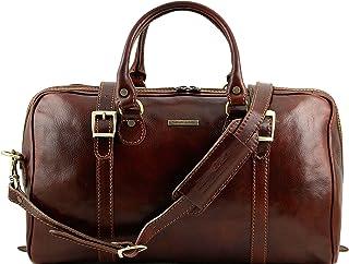 c96e83bf69 Tuscany Leather - Berlin - Sac de Voyage en Cuir - Petit modèle Marron -  TL1014