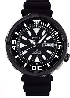 Prospex Tuna Automatic Diver's 200M Black Ceramic Watch with Silicone Band SRPA81K1