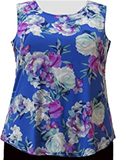 13b2f3234bfacd A Personal Touch Periwinkle Bouquet Women s Plus Size Tank Top