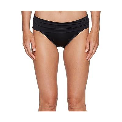Jantzen Solid Shirred Waist Bottom (Black) Women