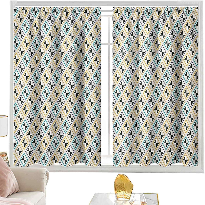 Rod Pocket Curtains Funky Unusual Line Striking Diamond Selling rankings Motifs New color