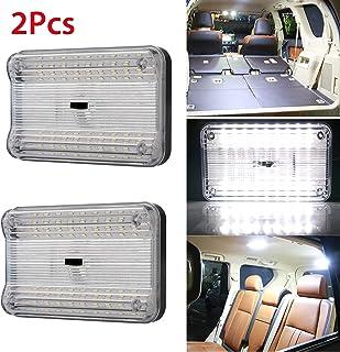 2-بسته DC 12V 36 LED کامیون اتومبیل خودرو سقف اتومبیل گنبد سقف سقف داخلی لامپ داخلی با روشن / خاموش سوئیچ اتومبیل وانت کامپر و تاکسی