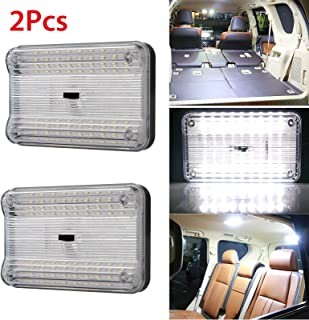 2-Pack DC 12V 36 LED Car Truck Vehicle Auto Dome Roof Ceiling Interior Light Lamp White with On/Off Switch for Cars Vans Camper Vans & Taxis