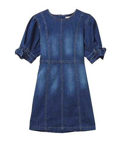 HABITUAL girl Mae Belted Sleeve Denim Dress (Big Kids) Girl