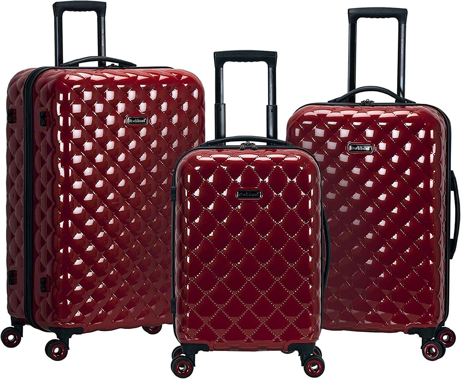 Rockland Quilt Hardside Expandable Spinner OFFicial At the price of surprise Wheel Set Re Luggage