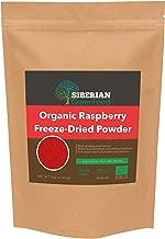 Organic Raspberry Freeze-Dried Powder, Sugar Free, Premium Quality 100gr/3.52oz by Siberian Green Food, European Organic Certificate. … …