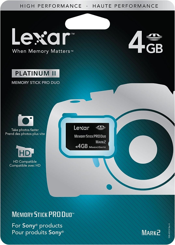 Lexar Platinum II 4GB Memory Stick Pro Duo Flash Memory Card LMSPD4GBBSBNA