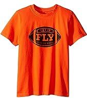 Life is Good Kids - Let It Fly Football Crusher™ Tee (Little Kids/Big Kids)