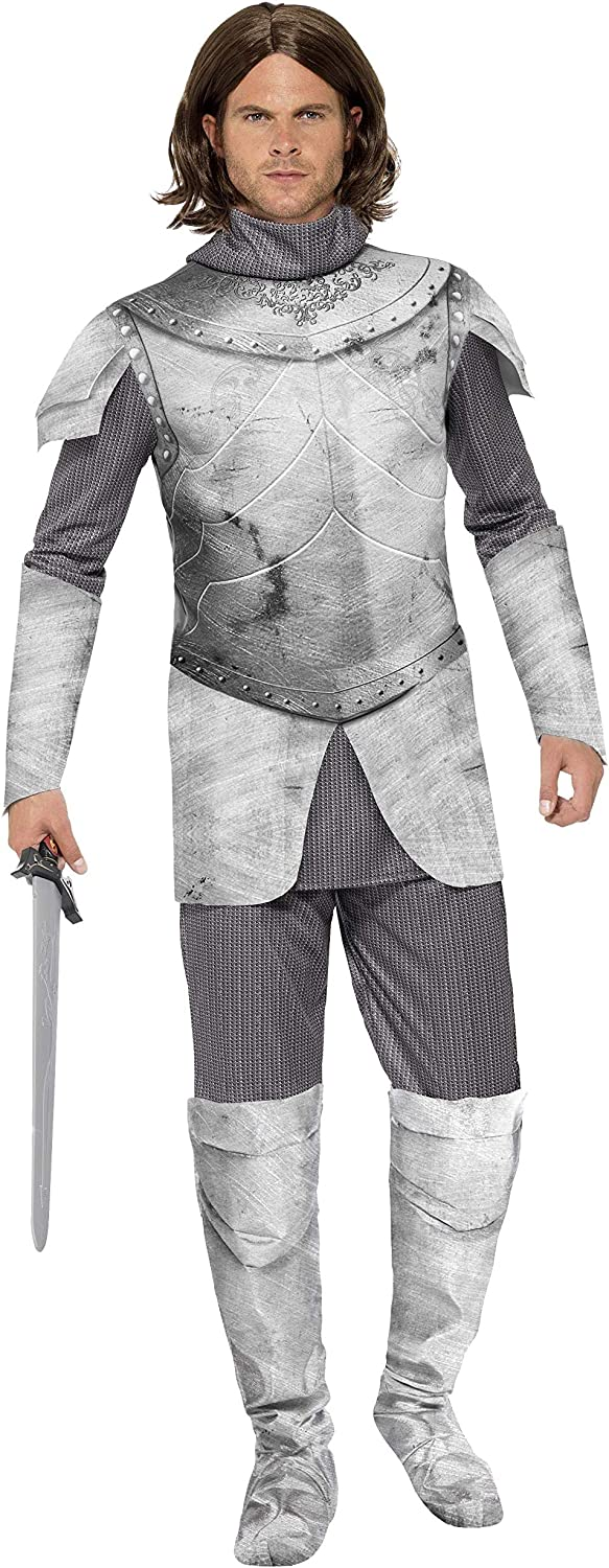 Details about  /Smiffys Deluxe King Arthur Medieval Knight Adult Mens Halloween Costume 43417