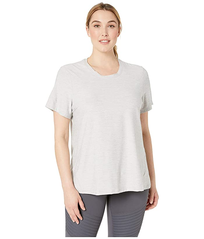 SHAPE Activewear Plus Size Trail Tee (White Heather) Women