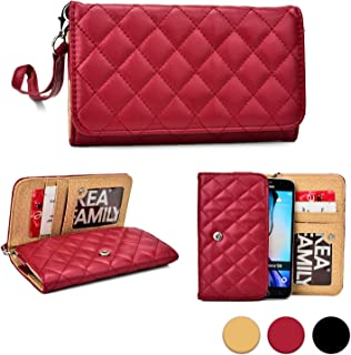 Cooper Cases(TM) Quilted Womens Clutch Allview H2 Qubo, Impera i/S