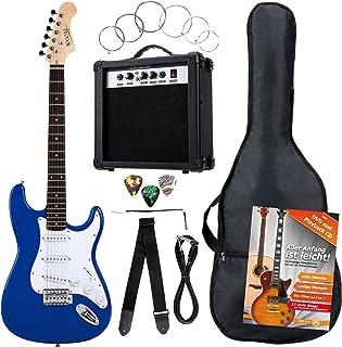 Rocktile Bangers Pack - Set de guitarra eléctrica, 8-piezas, color azul