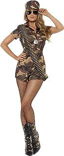 comprar comparacion Smiffy's Disfraz de mujer soldado sexy, camuflaje, con mono de pantalones cortos, cinturó, Color, S - EU Tamaño 36-38 (288...
