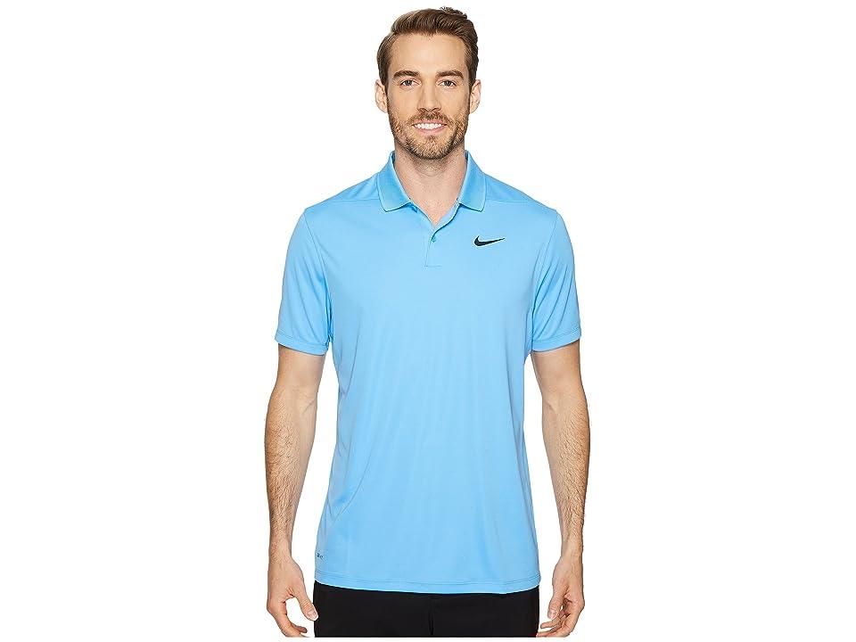 Nike Golf Dri-FITtm Victory Polo (University Blue/Black) Men