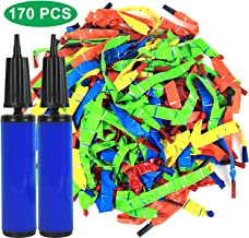 Click N' Play Rocket Balloons with 2 Balloon Hand Pump set of 170 Fun Long Whistle Balloons Included.