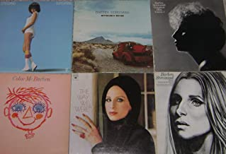 BARBRA STREISAND RECORD ALBUM COLLECTION [LOT OF 6 w/ POSTER]: Stoney End, The Way We Were, Superman, Color Me Barbra, Live & Greatest Hits
