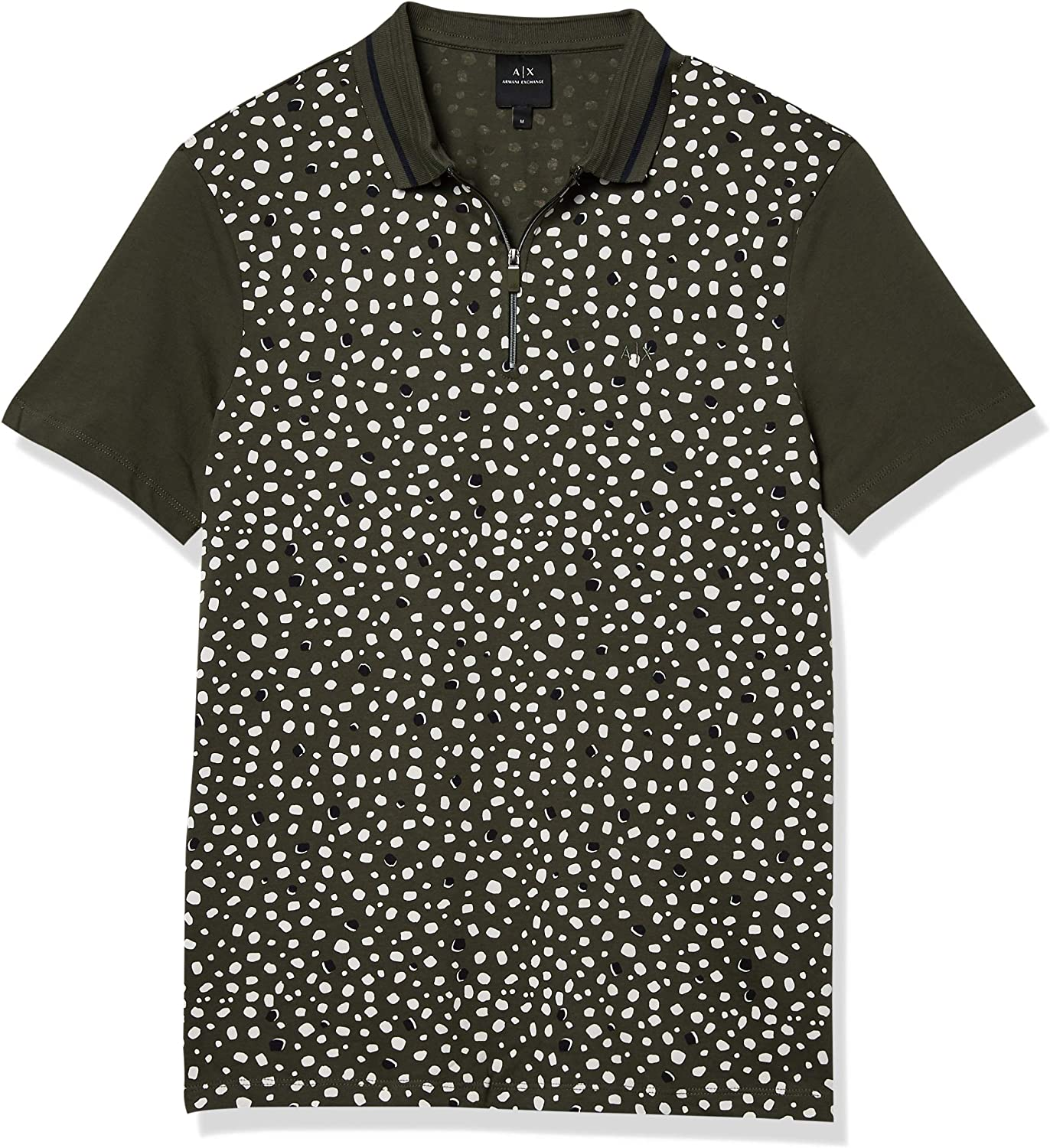 Manufacturer OFFicial shop Cheap mail order specialty store AX Armani Exchange Men's Short Dots Sleeve with Shirt Polo