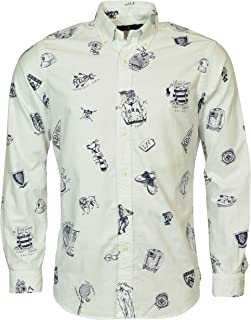 Men's Classic Fit Printed Oxford Button-Down Shirt