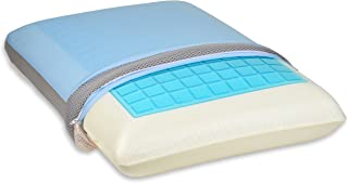 TruContour Soft Cooling Gel Memory Foam Pillow - Enjoy Cool Sleeping - Thick Gel Layer & Advanced Hypoallergenic Three Fabric Cover
