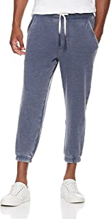 Young Men's Super Soft Fleece Cropped Jogger Sweatpant with Vintage Wash