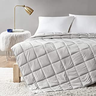 Comfort Spaces Reversible Weighted Blanket Adult-Glass Beads Filling All Season Soft Heavy Wraps-Box Quilted Cozy Warm Bed...