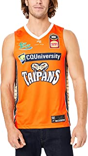 First Ever Men's Cairns Taipans V Neck Home Authentic Jersey