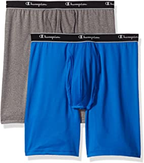 Champion Men's 2-Pack Tech Performance Longer Leg Boxer Brief