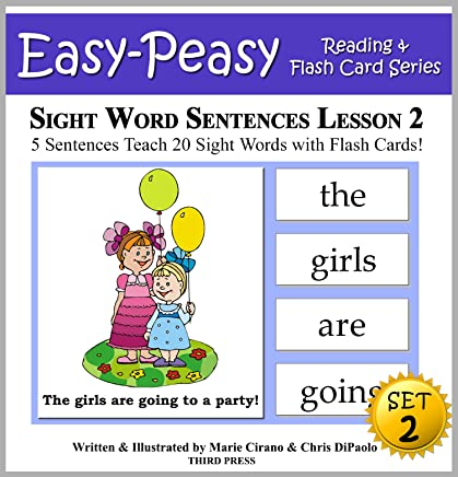 Sight Word Sentences Set 2 - Lesson 2: 5 Sentences Teach 20 Sight Words with Flash Cards (Learn to Read Sight Words - SET 2) (English Edition)