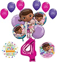 Mayflower Doc McStuffins 4th Birthday Party Supplies and Balloon Bouquet Decorations