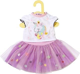 Dolly Moda Zapf Creation 870495 Dolly Moda Einhorn Shirt mit Tutu, Puppenkleidung 39-46 cm