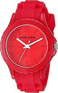 Anne Klein Women's AK/3241 Silicone Strap Watch