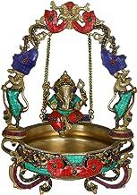 Ganesha Swing Urli - Brass Statue