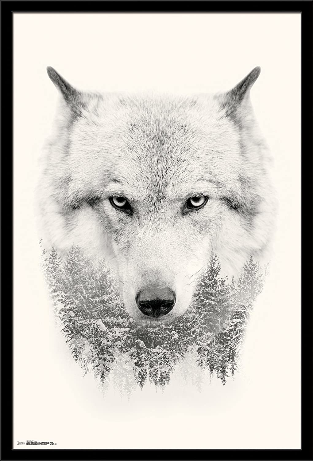 Trends International Wall Poster Wolf Trees, 22.375 x 34