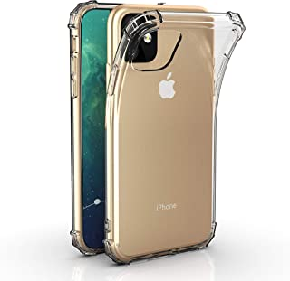Techlogic USA 2019 New iPhone 11 (6.1-inch) Premium Transparent Case - Crystal Clear Lightweight and Anti-Yellowing Soft TPU Cover with Shock Absorption Bumper Corners
